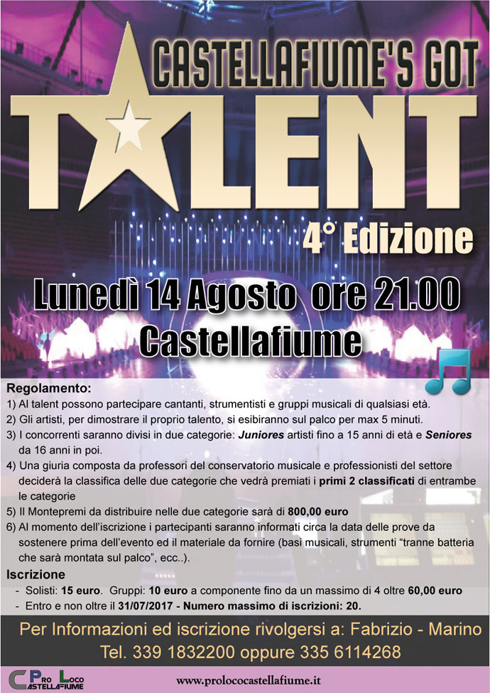 Castellafiume's got Talent 4 Edizione 2017