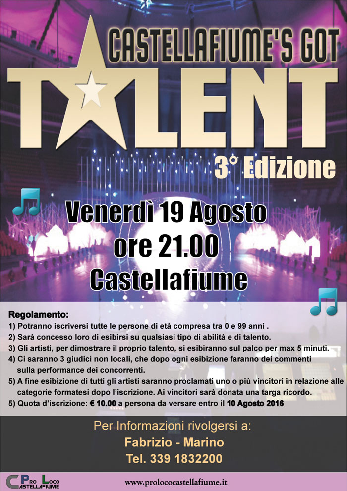 Castellafiume?s got talent 3° edizione
